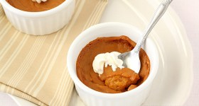 Egg Free Pumpkin Pie For Two | www.chocolatemoosey.com