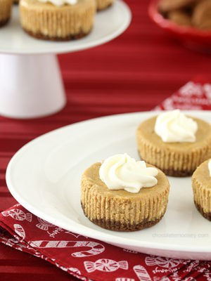 Mini Gingerbread Cheesecakes (Small Batch)
