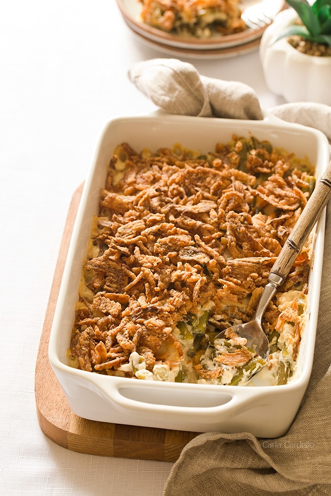 Homemade Green Bean Casserole Without Mushroom Soup