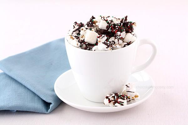 Hot Chocolate Popcorn   www.chocolatemoosey.com