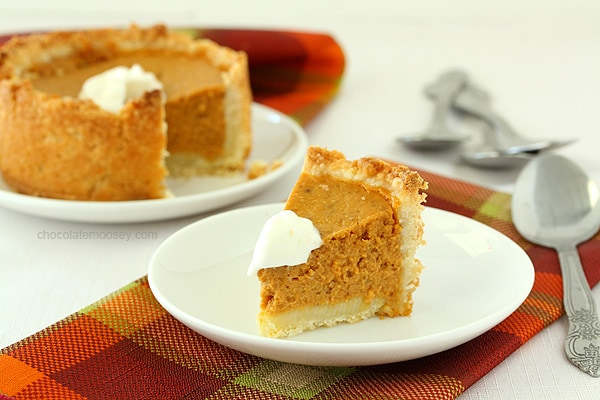 Deep Dish Mini Pumpkin Pies For Two for Thanksgiving