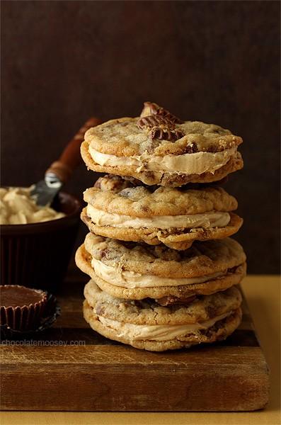 Peanut Butter Cup Sandwich Cookies | www.chocolatemoosey.com