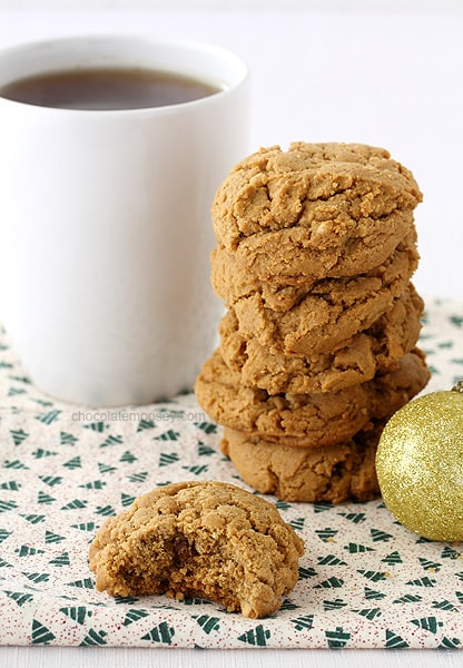 Soft on the inside, slightly crisp on the outside, these nutty small batch Peanut Butter Molasses Cookies bring the flavors of the season to your holiday cookie tray.