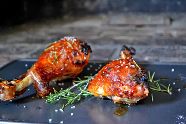 Pumpkin Glazed Turkey Legs from Bakeaholic Mama