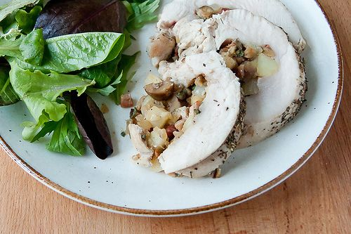 Stuffed Turkey Breast with Apple Chestnut Stuffing from Crumb