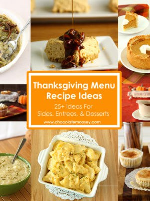 Thanksgiving Menu Recipe Ideas