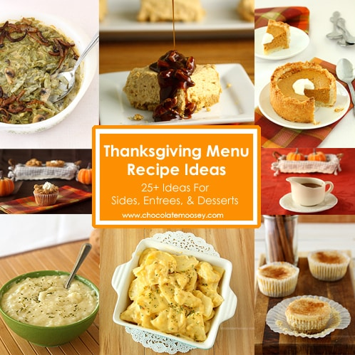 Thanksgiving Menu Recipe Ideas | www.chocolatemoosey.com