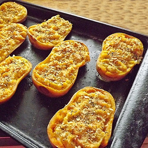 Twice Baked Butternut Squash from Blueberries and Blessings