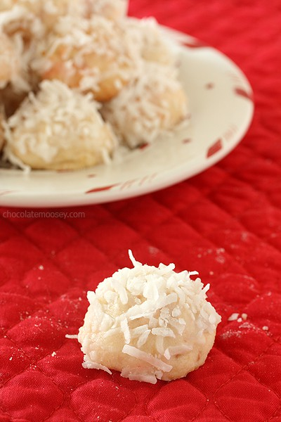 Cherry Coconut Snowball Cookies