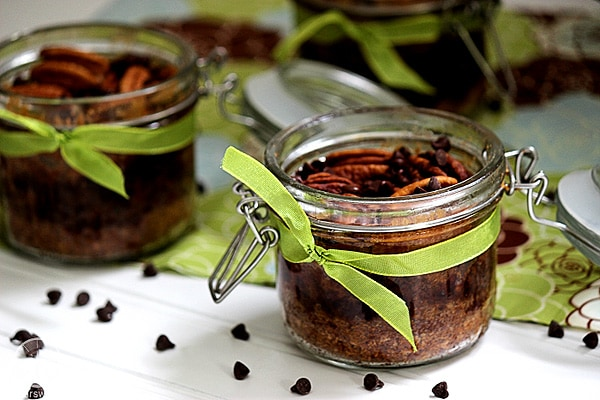 Chocolate Chip Pecan Pie in a Jar from Big Bear's Wife