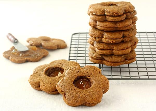Gingerbread Linzer Cookies