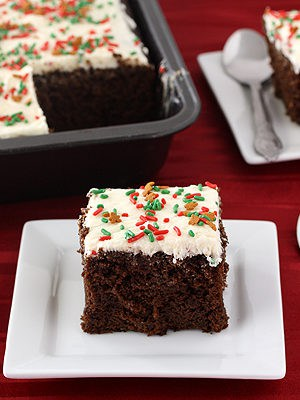 Gingerbread Sheet Cake with Lemon Frosting