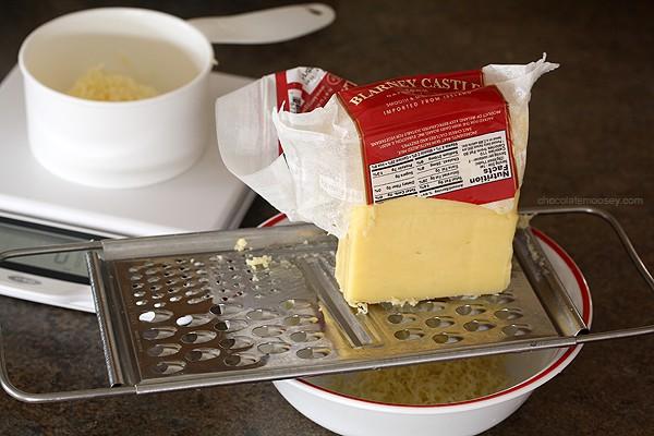 Grating Kerrygold Irish Cheese