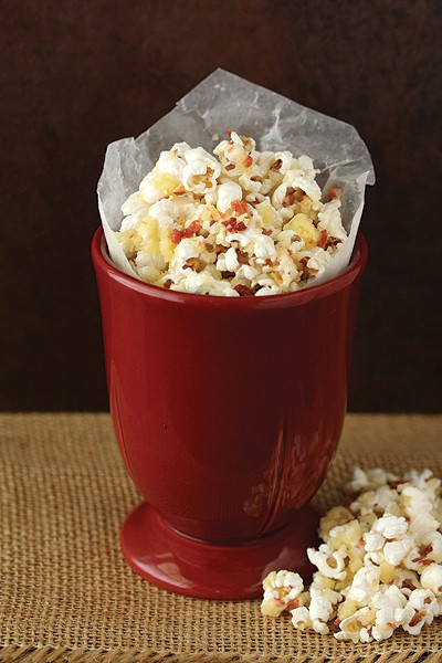Irish Cheese and Bacon Popcorn