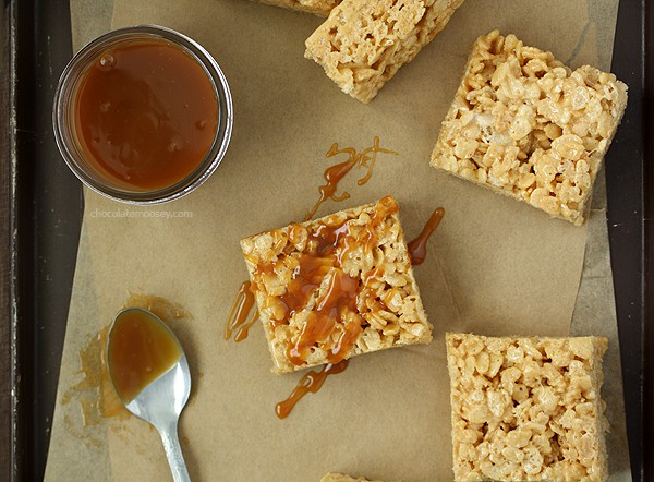 Caramel Rice Crispy Treats