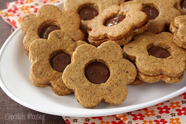 Spiced Hazelnut Linzer Cookies