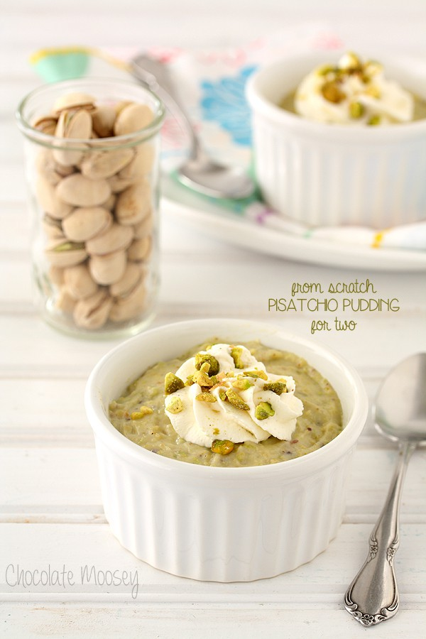 Pistacho Pudding For Two (From Scratch)