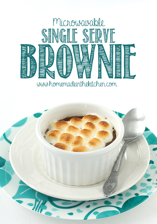 Single Serve Brownie In A Ramekin