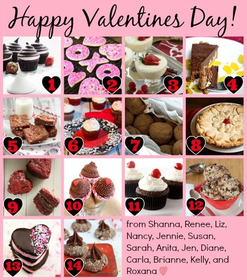Valentine's Day Food Collage