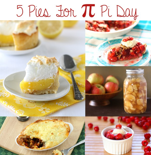 5 Pies For Pi Day