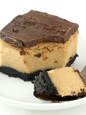 Buckeye (Chocolate and Peanut Butter) Cheesecake Bars