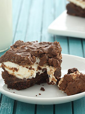 Crispy Peanut Butter Marshmallow Brownies