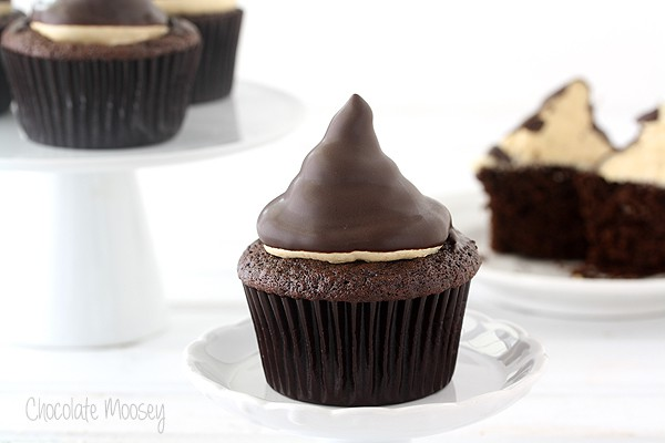 Chocolate Caramel Hi Hat Cupcakes
