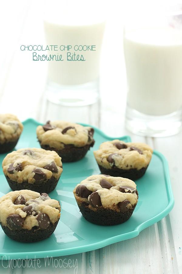 Chocolate Chip Cookie Brownie Bites