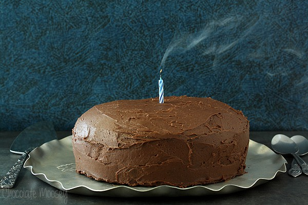 Devil's Food Layer Cake with Whipped Chocolate Buttercream Frosting