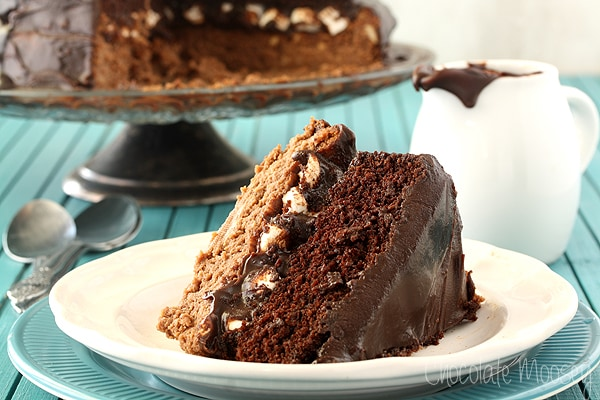 Chocolate Caramel Cheesecake Cake
