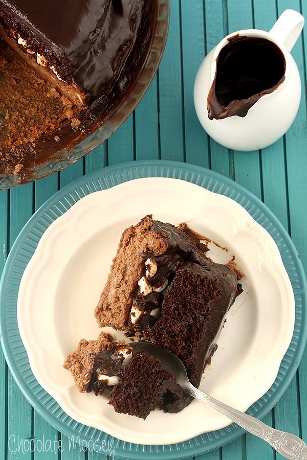 Chocolate Caramel Cheesecake Cake