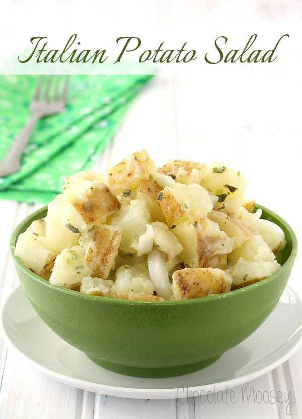 ... -Cut German Potato Salad - an oil and vinegar based potato salad