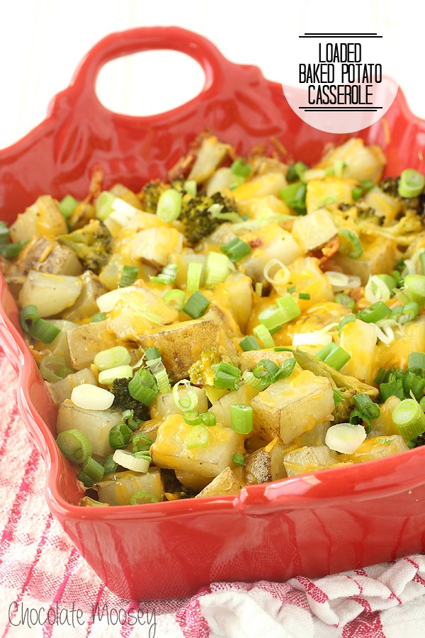 Loaded Baked Potato Casserole for an easy family dinner