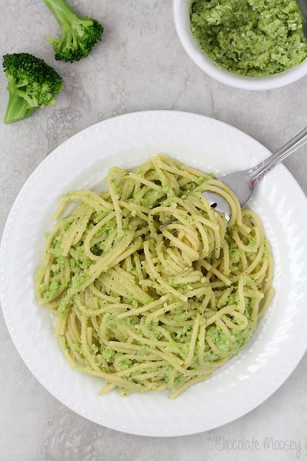 Broccoli Pesto as a pasta sauce