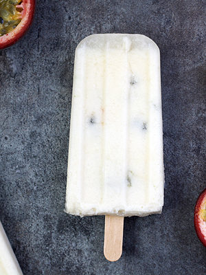 Passion Fruit and Coconut Milk Pops (Dairy Free, Vegan)