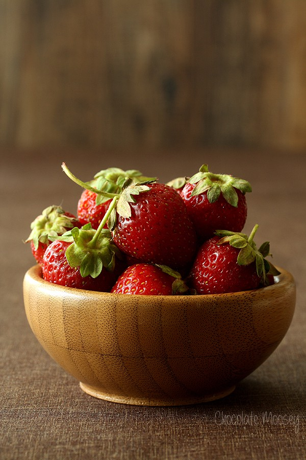 Strawberries for Strawberry Layer Cake from scratch