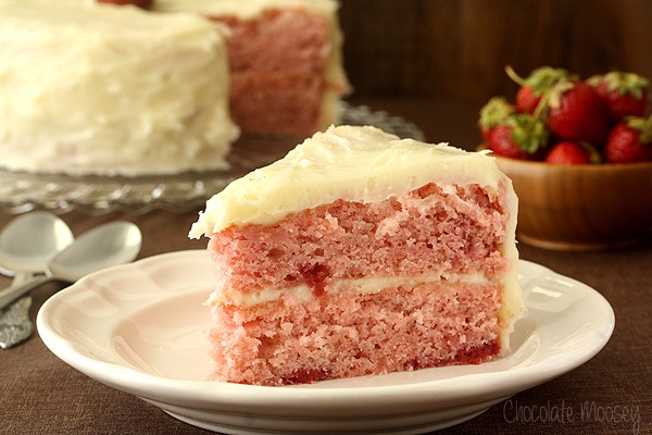 Strawberry Layer Cake From Scratch