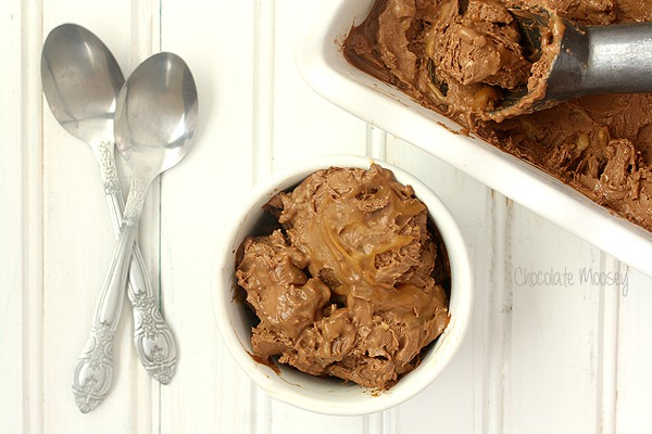 Chocolate Caramel Cheesecake Ice Cream for Cheesecake Day