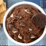 Peppermint Patty Cookie Dough Dip - egg free and no bake