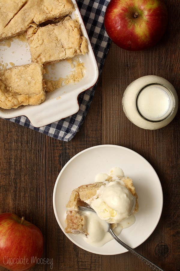 Apple Half Slab Pie With Buttermilk Ice Cream