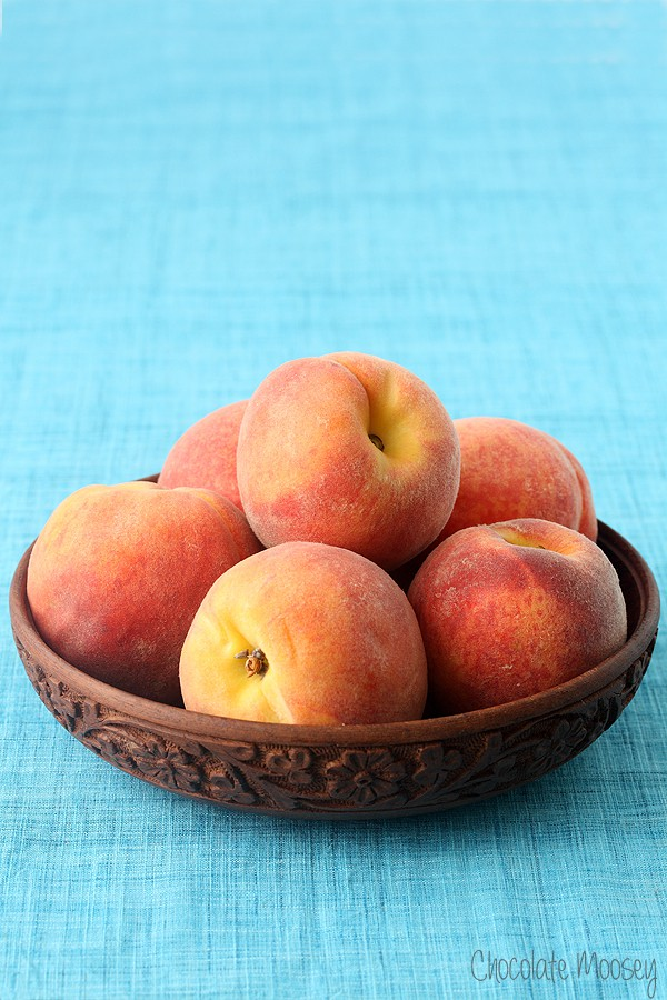 Bowl of peaches for peaches and cream ice cream