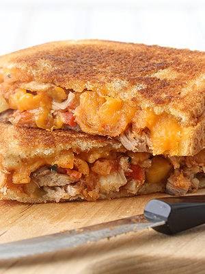 Salsa Chicken Grilled Cheese