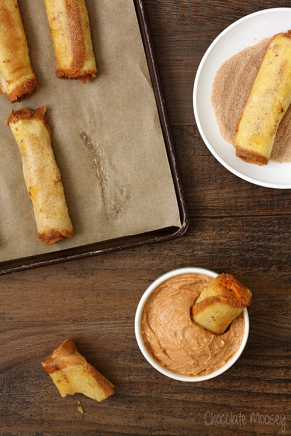 Pumpkin Cheesecake French Toast Roll Ups with Pumpkin Spice Dipping Sauce