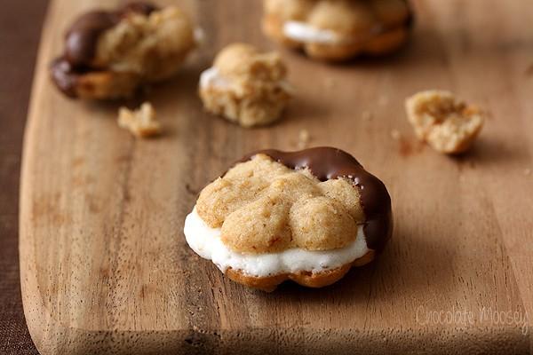 S'mores Spritz Sandwich Cookies