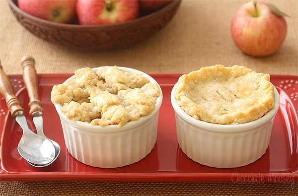 Apple Pie For Two with homemade pie crust and apple pie filling
