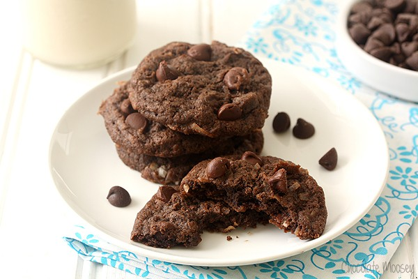 Double Chocolate Coconut Cookies (Egg Free)