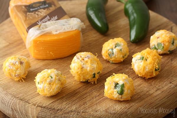 Mini Jalapeno Popper Cheese Ball Bites