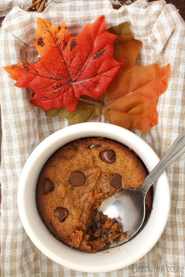 Single Serving Pumpkin Chocolate Chip Cookie
