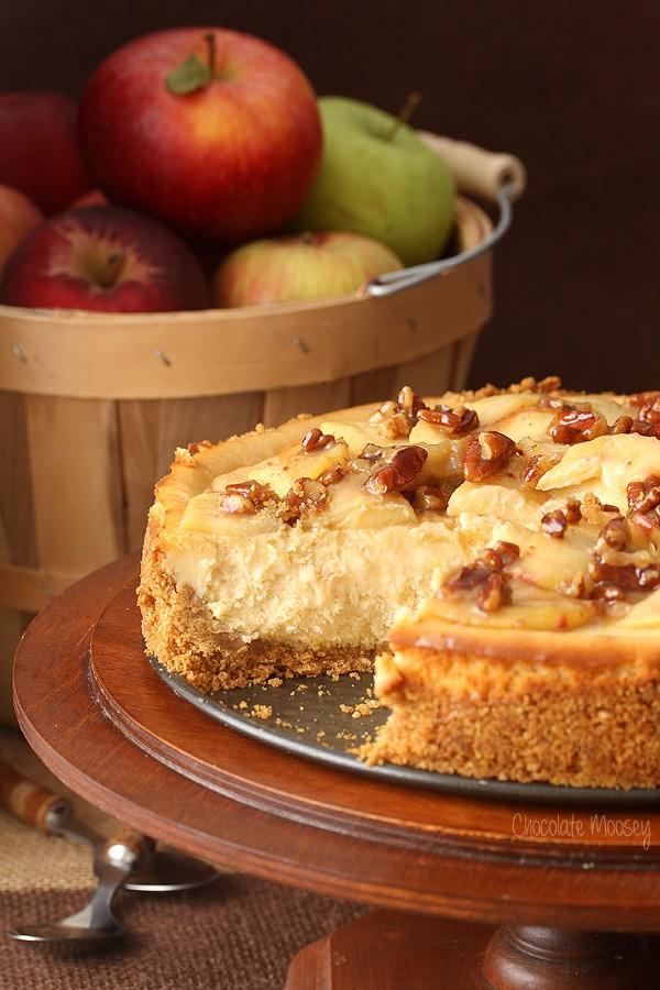 apple pecan cheesecake adapted caramel apple pecan cheesecake