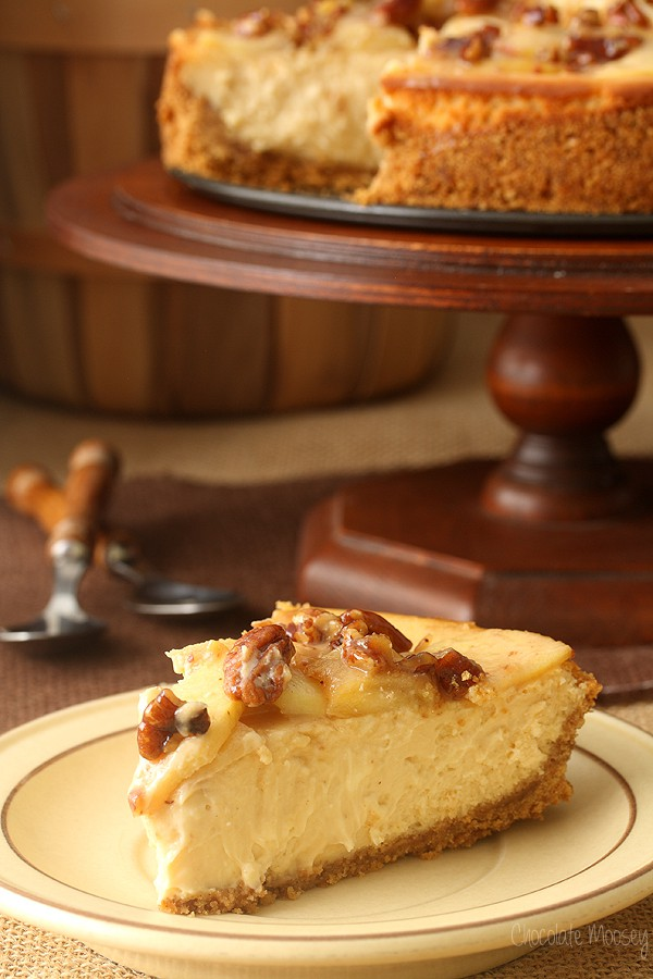 Caramel Apple Pecan Cheesecake | Chocolate Moosey